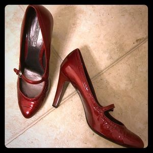 "👠 Via Spiga Red 4"" Heels 8.5M 👠 💦2 for $22💦"